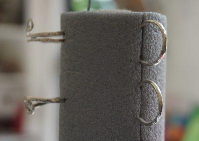 Silverringar och egen lösning till en hållare :)